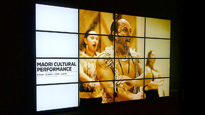 The Auckland Museum Combines Matrox M9188 Octal-Monitor Graphics Cards Across a 16-Monitor Video Wall