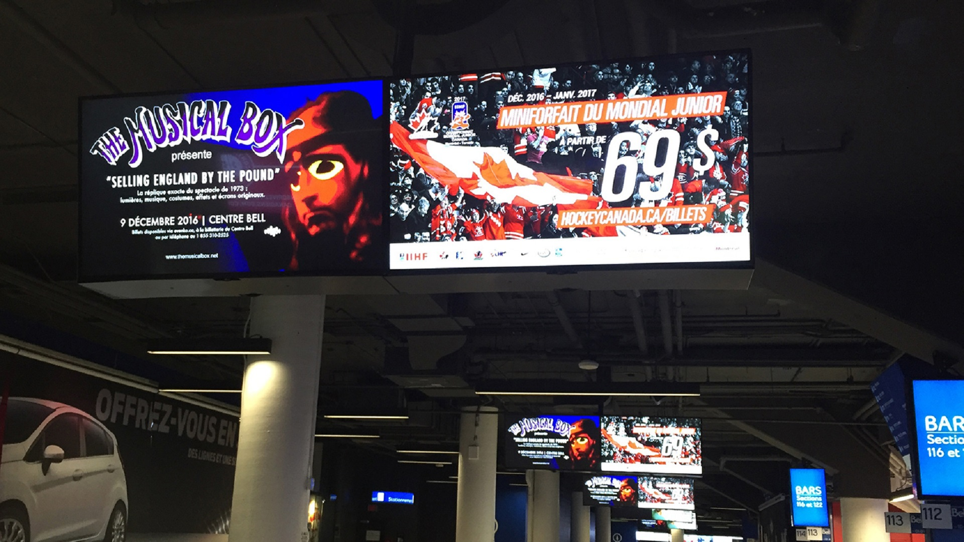 Bell Centre Concourse Display