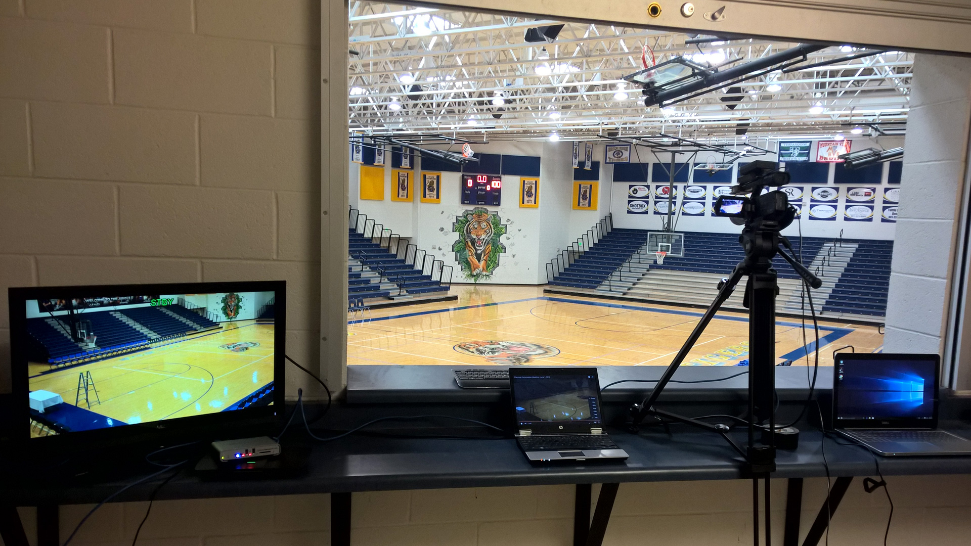 City held charity event at local high school streamed using Matrox Monarch HD streaming and recording appliance.
