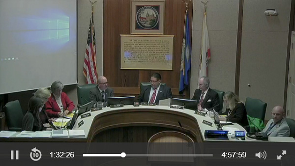 City council meeting: streamed live to residents using Monarch HDX.