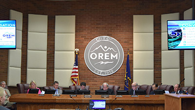 Council meeting at the City of Orem webcast live and recorded simultaneously for VOD viewing using Monarch HD and PrimeGov software.