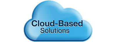 blue cloud based solutions icon