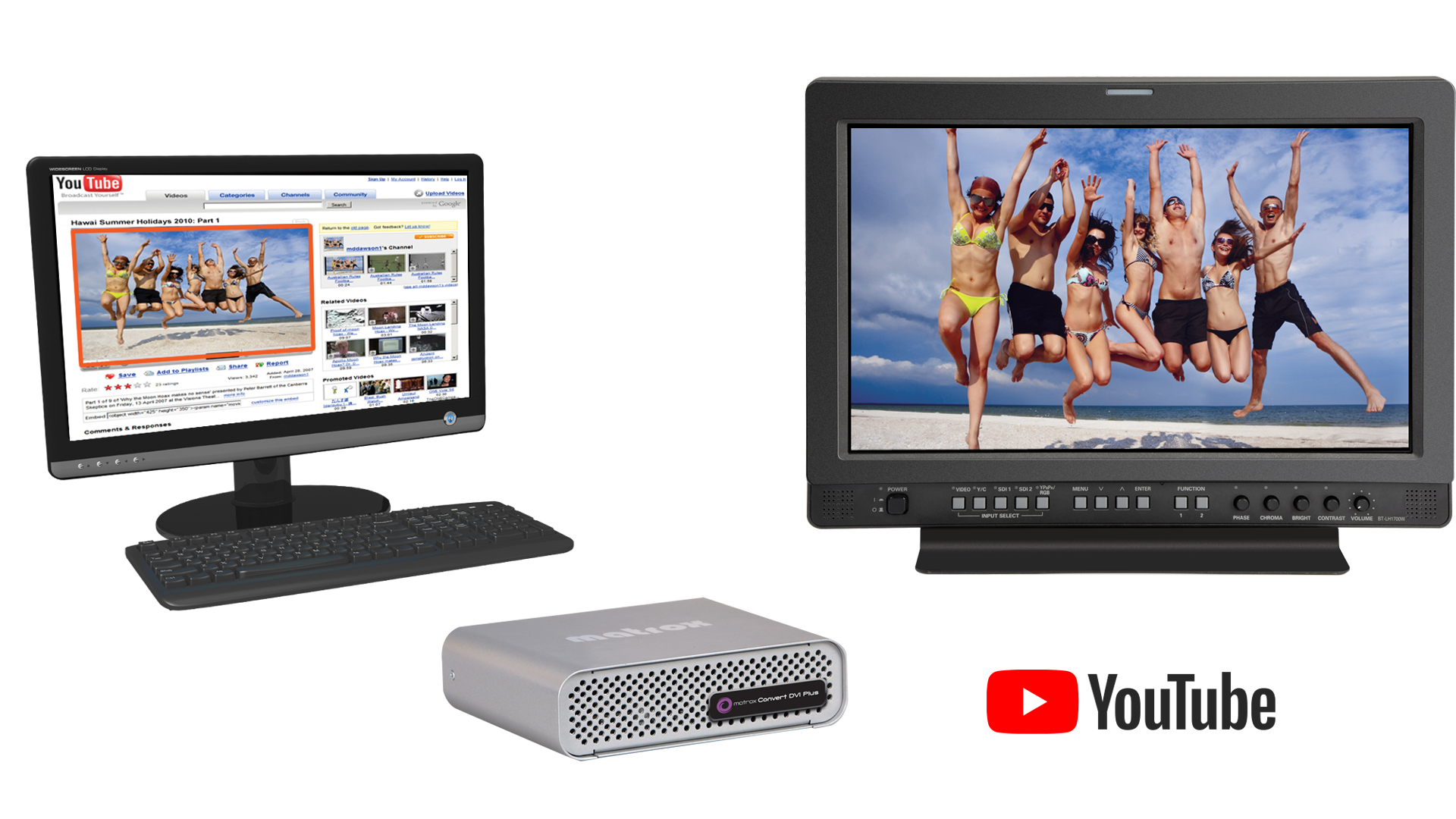 Convert DVI on Youtube PC monitor and tv