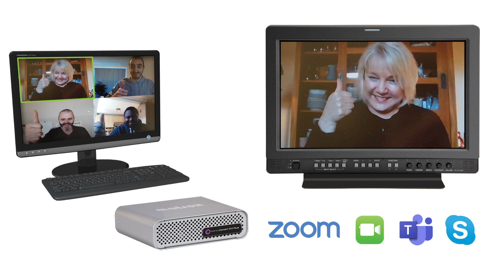 Convert DVI Plus for Zoom, Facetime, Teams and Skype