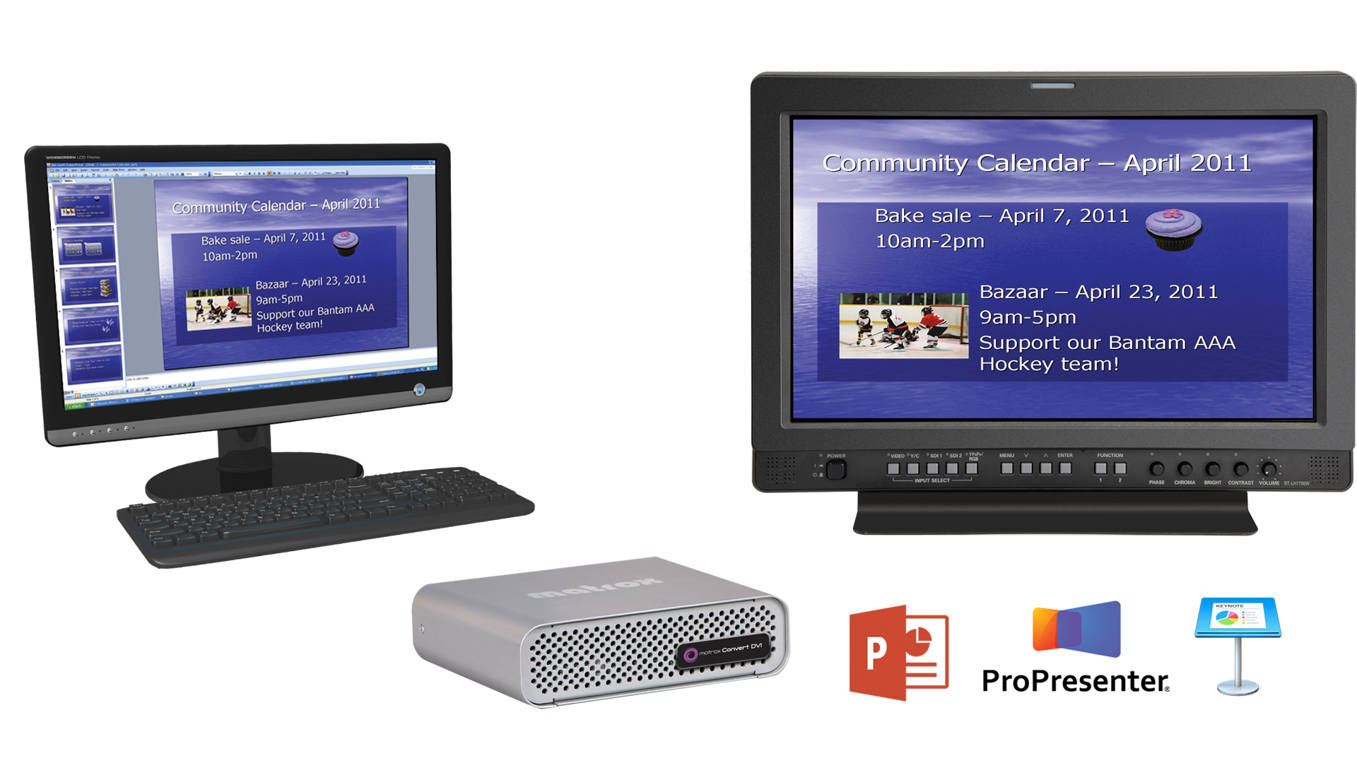Convert DVI Plus for PPT, Propresenter and Keynote
