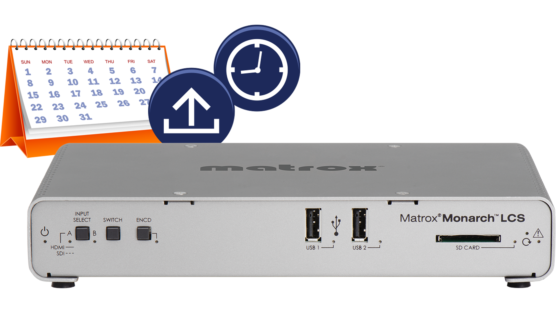 Updates to the Matrox Monarch LCS include automated device scheduling and store & forward file transfer.