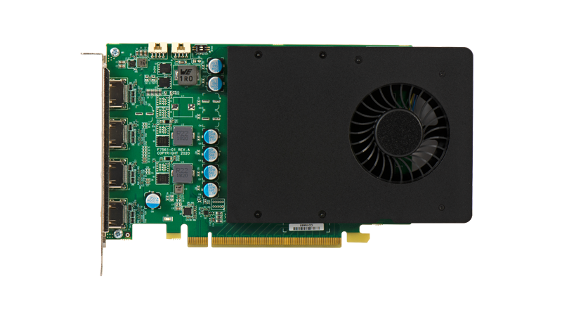 D1450 Quad HDMI Graphics Card