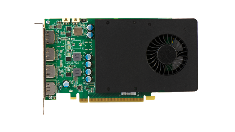 D1480 Quad DisplayPort Graphics Card