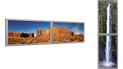 Digital signage with DualHead2Go