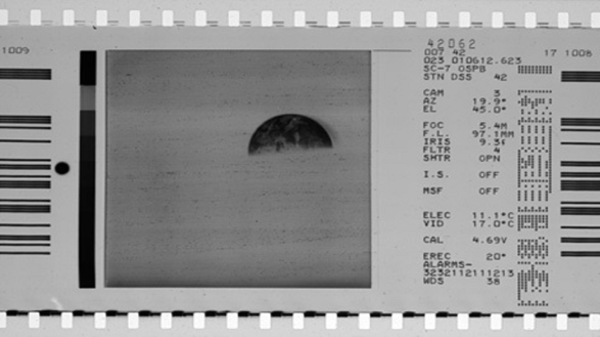 Typical film image from Surveyor mission