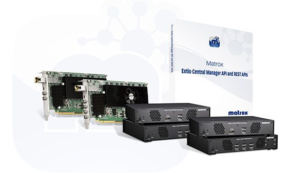 The Matrox Extio 3 Series IP KVM Extenders