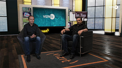 VizrTV employees interviewing remotely