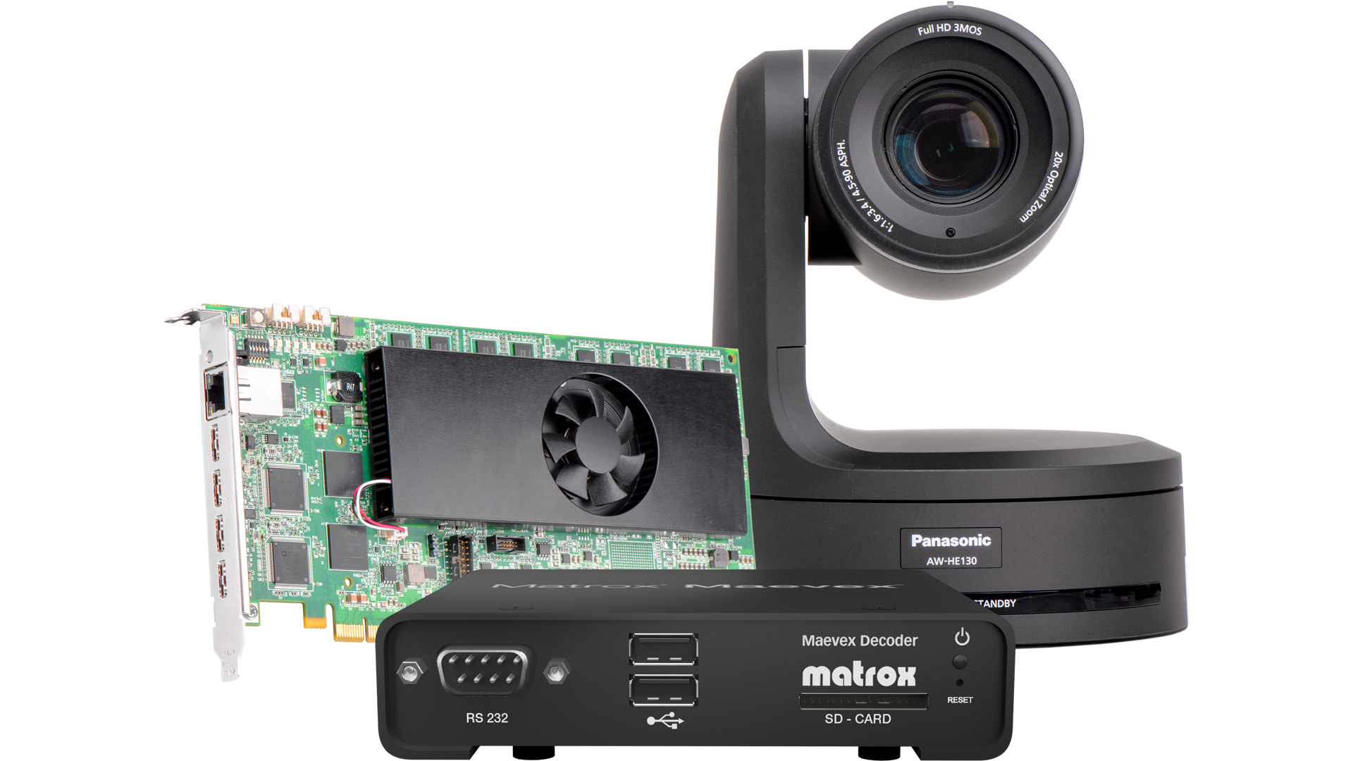 Maevex 5100, Mura iPX 4K Capture/Decode and Panasonic Camera