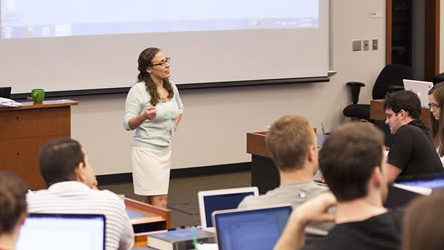 Indiana University classroom equipped with Monarch LCS-Kaltura lecture capture solution.