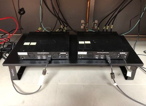 A Matrox KVM Extio 3 Extender in operation