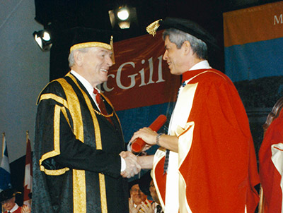 Lorne Trottier receives honorary doctorate from McGill University