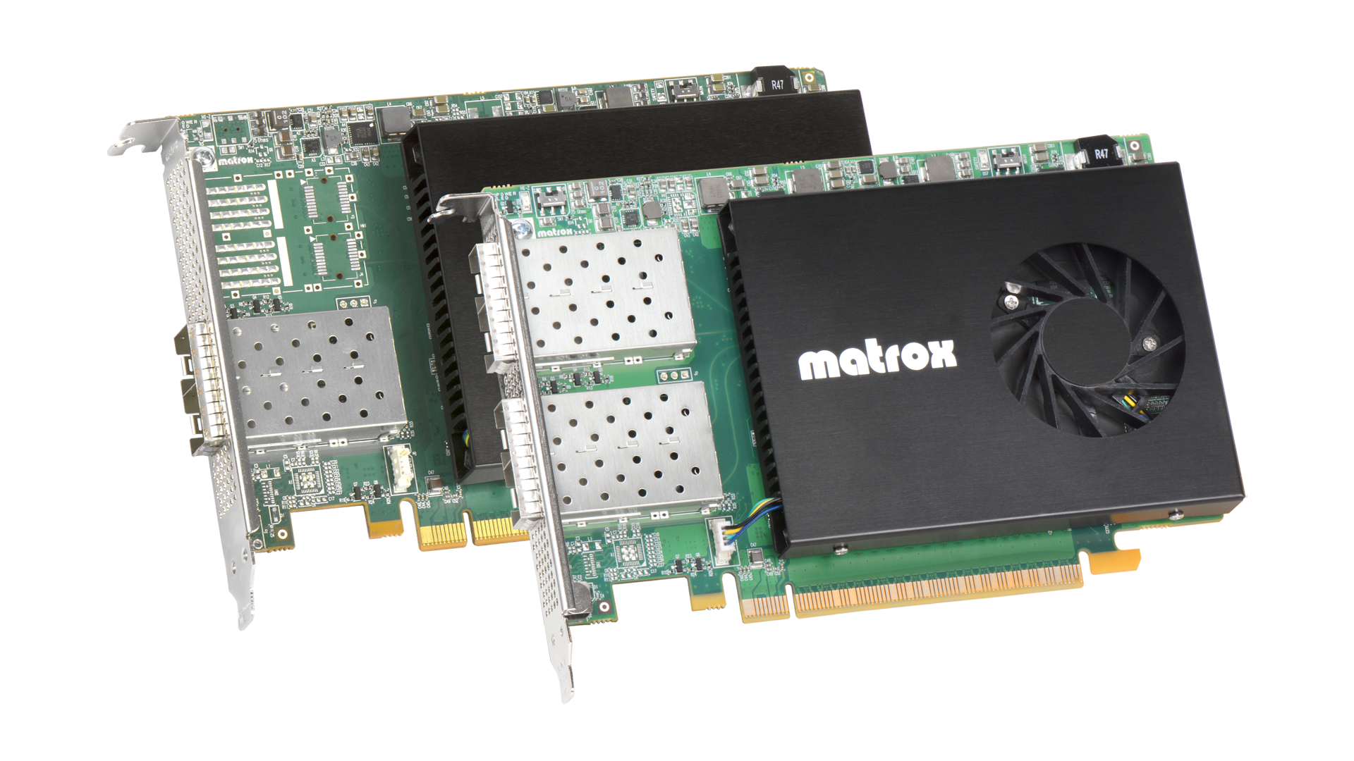 Matrox DSX LE5 Q25 and Matrox DSX LE5 D25 ST 2110 Quad 25 Gbe Network Adapter