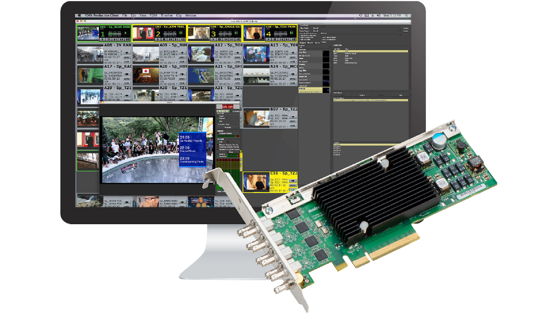 Primestream's FORK Software Now Supports the Matrox DSX LE4 SDI I/O Video Card