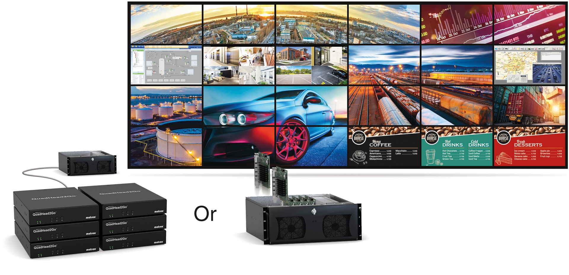 Matrox QuadHead2Go-Powered Video Walls Ideal for any Commercial or Control Room Environment