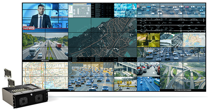 Matrox Powered Video Wall with 48 Screens