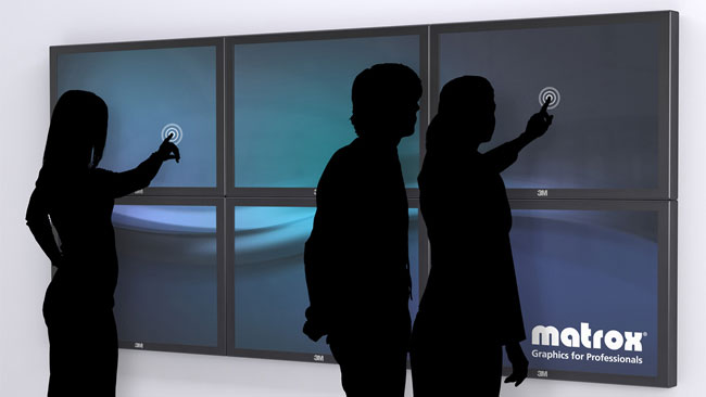 3M Multi-Touch Displays Powered by Matrox Multi-Monitor Products