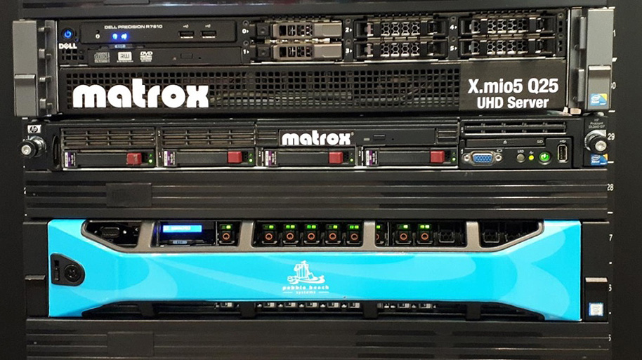 Matrox and Pebble Beach Systems SMPTE ST 2110 Test Servers