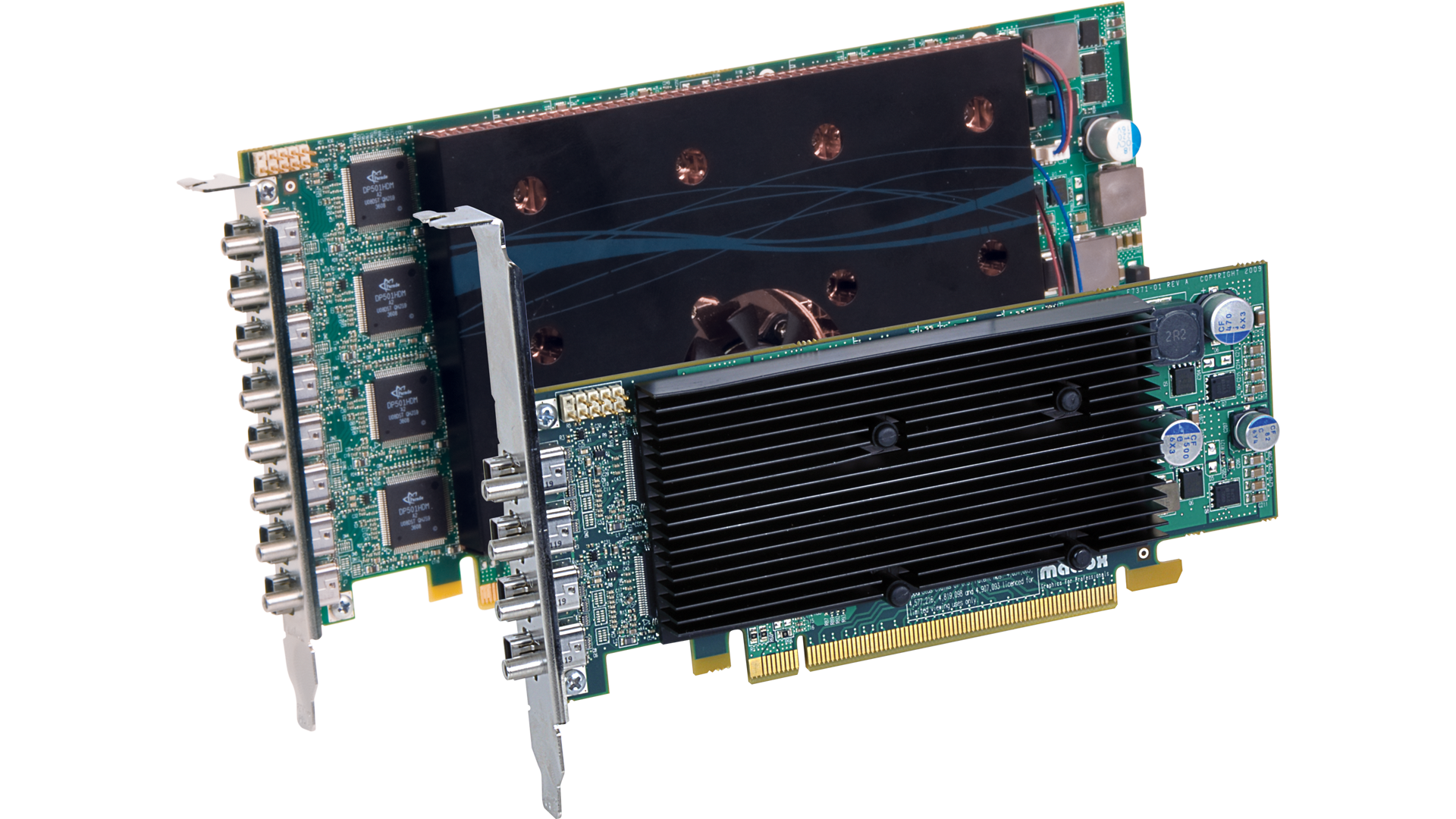 Matrox M9148 Quad-Monitor and M9188 Octal-Monitor Graphics Card