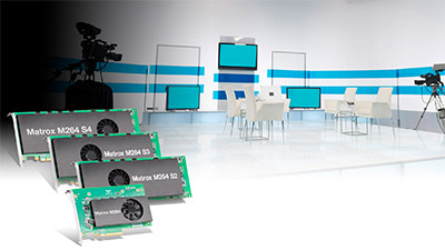Matrox M264 cards in a studio