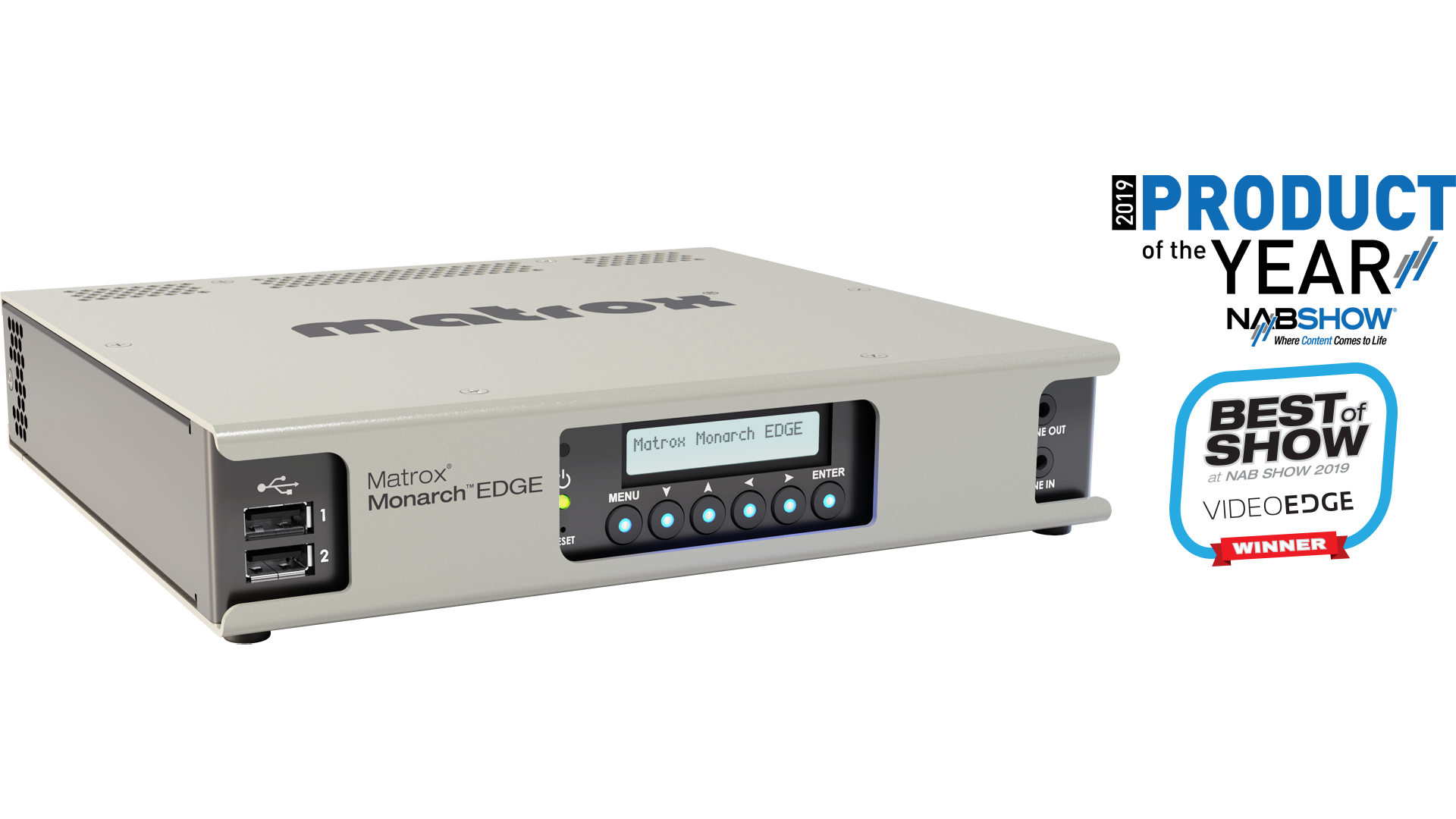 Matrox Monarch Edge Wins Product of the Year at NAB Show 2019