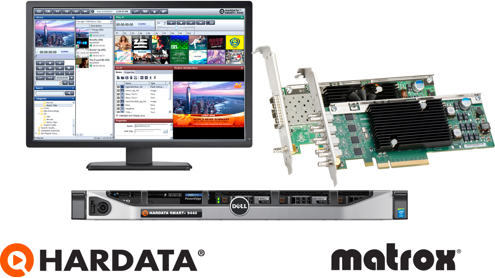 HARDATA Corp Incorporated the Matrox DSX LE4 LP and Matrox X.mio3 IP