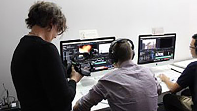 The Edit Royale event leverages Monarch HDX in creating a portable TV studio to webcast the video editing competition.