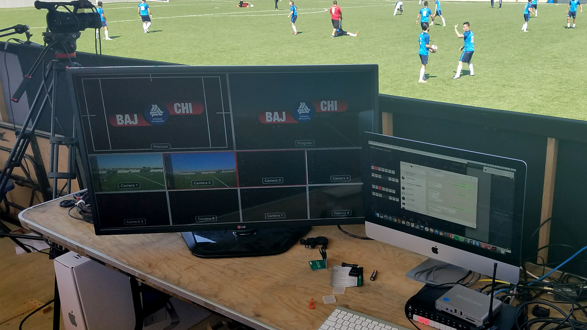 Monarch HD is ready to capture the game live from the soccer field.
