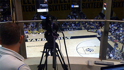 Asher capturing game to be recorded by Monarch HDX