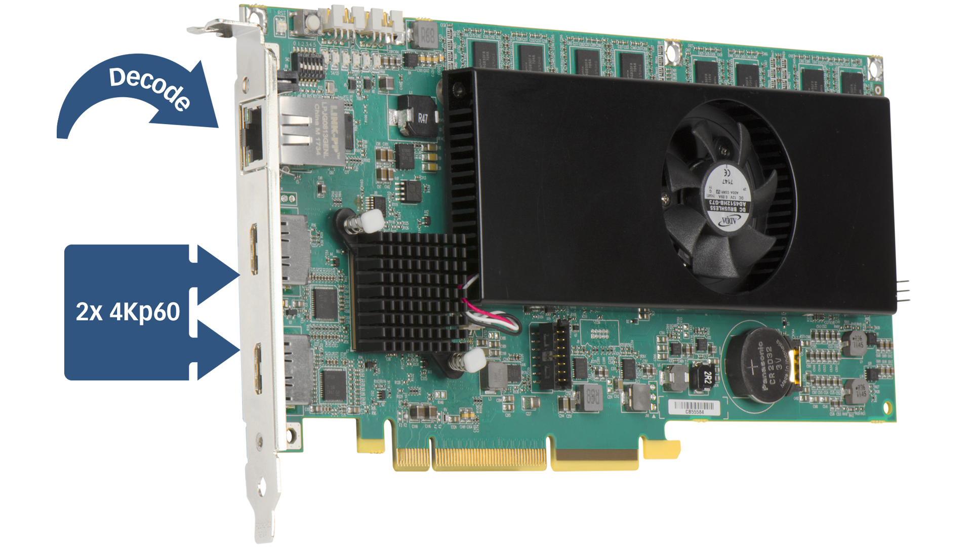 Mura IPX 4K DisplayPort Capture and IP Decode Card