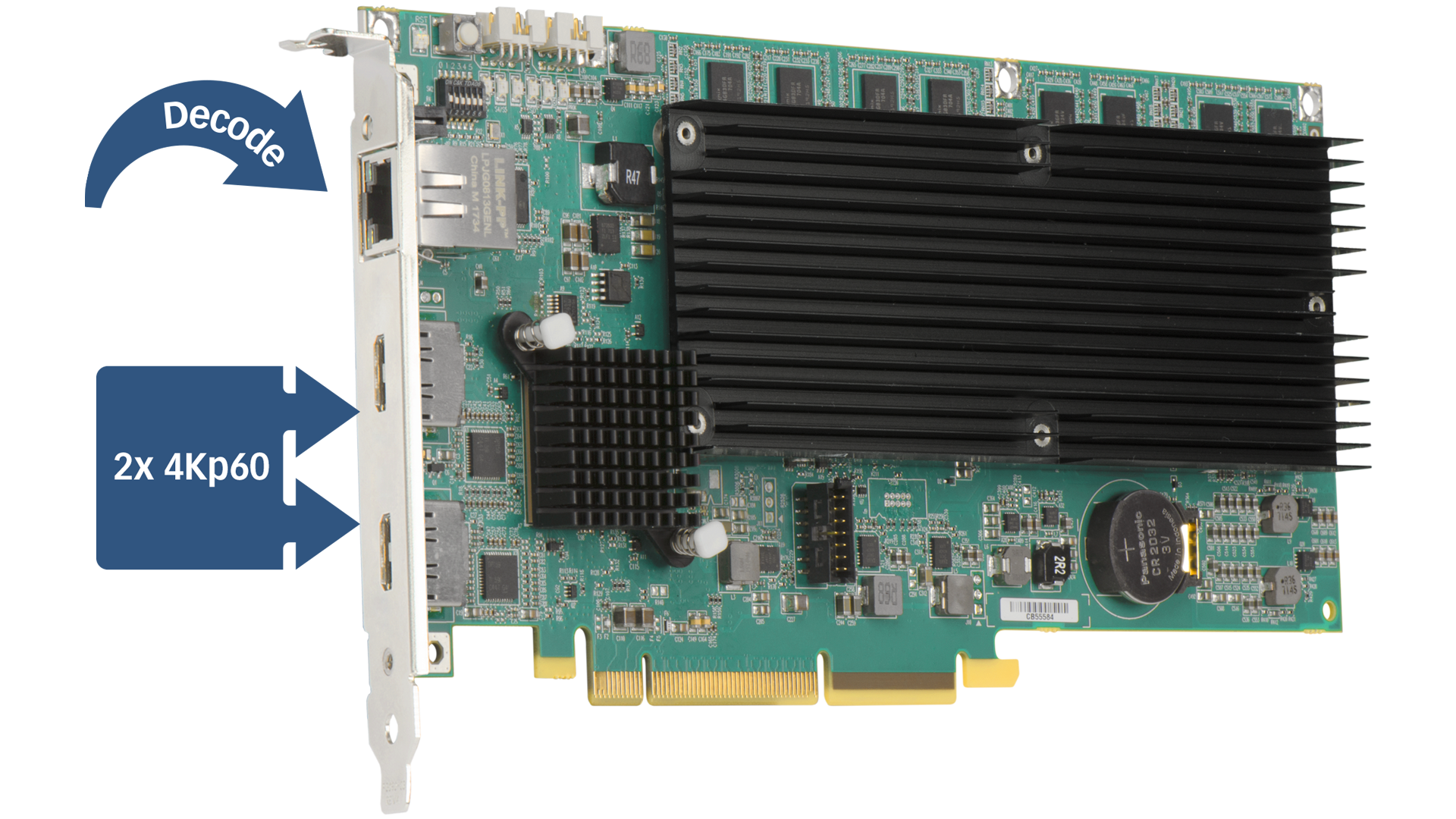 Mura IPX 4K DisplayPort and Decode Card (Fanless)
