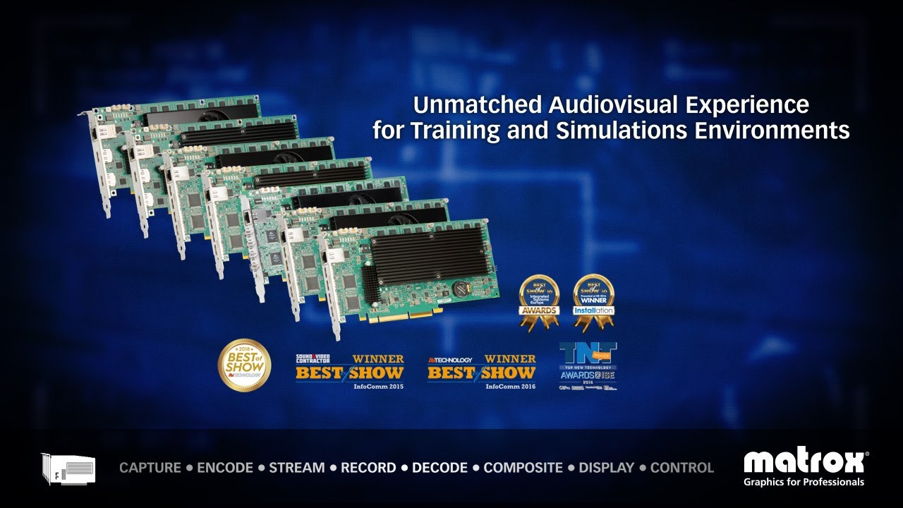 Matrox Mura IPX Capture Cards for Training & Simulation Environments