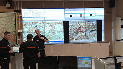 Agelec deployed Matrox Mura MPX series boards to capture & display sources on two video walls at the Bouches-du-Rhône fire & rescue headquarters.