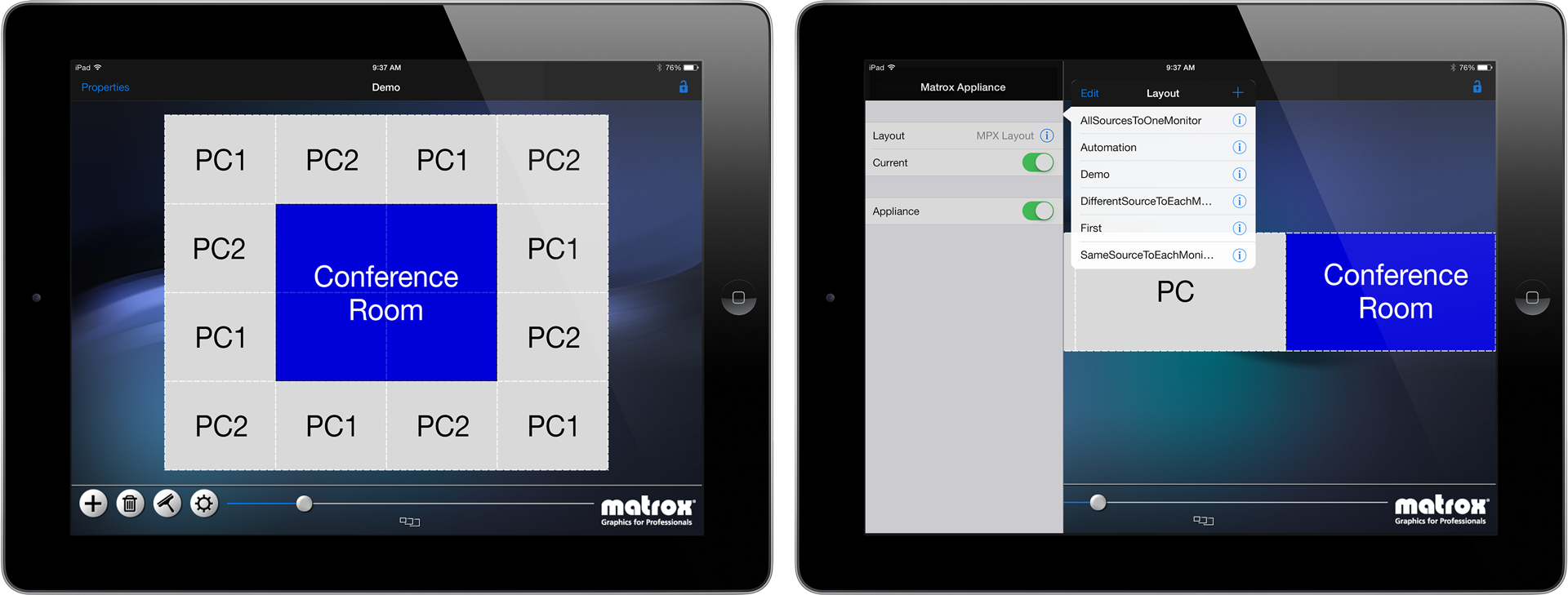 Matrox MuraControl for iPad