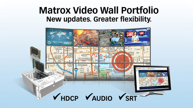 Matrox adds HDCP, audio, and multiple streaming protocols to its world-class video wall portfolio.