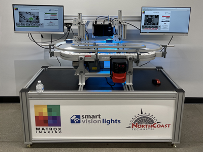 Demo installed at Smart Vision Lights training space