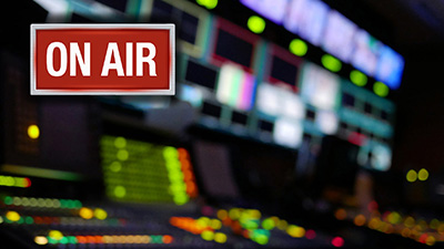 Broadcast with on air sign
