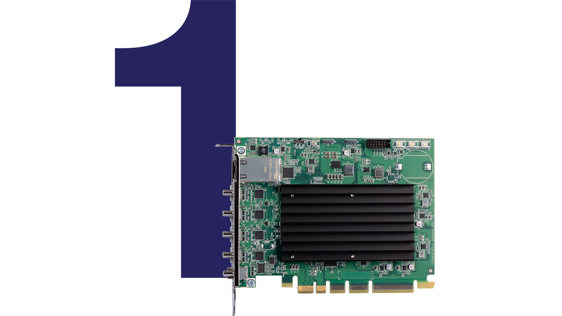 Connect using Mini DisplayPort 1.2 and 4 HDMI outputs