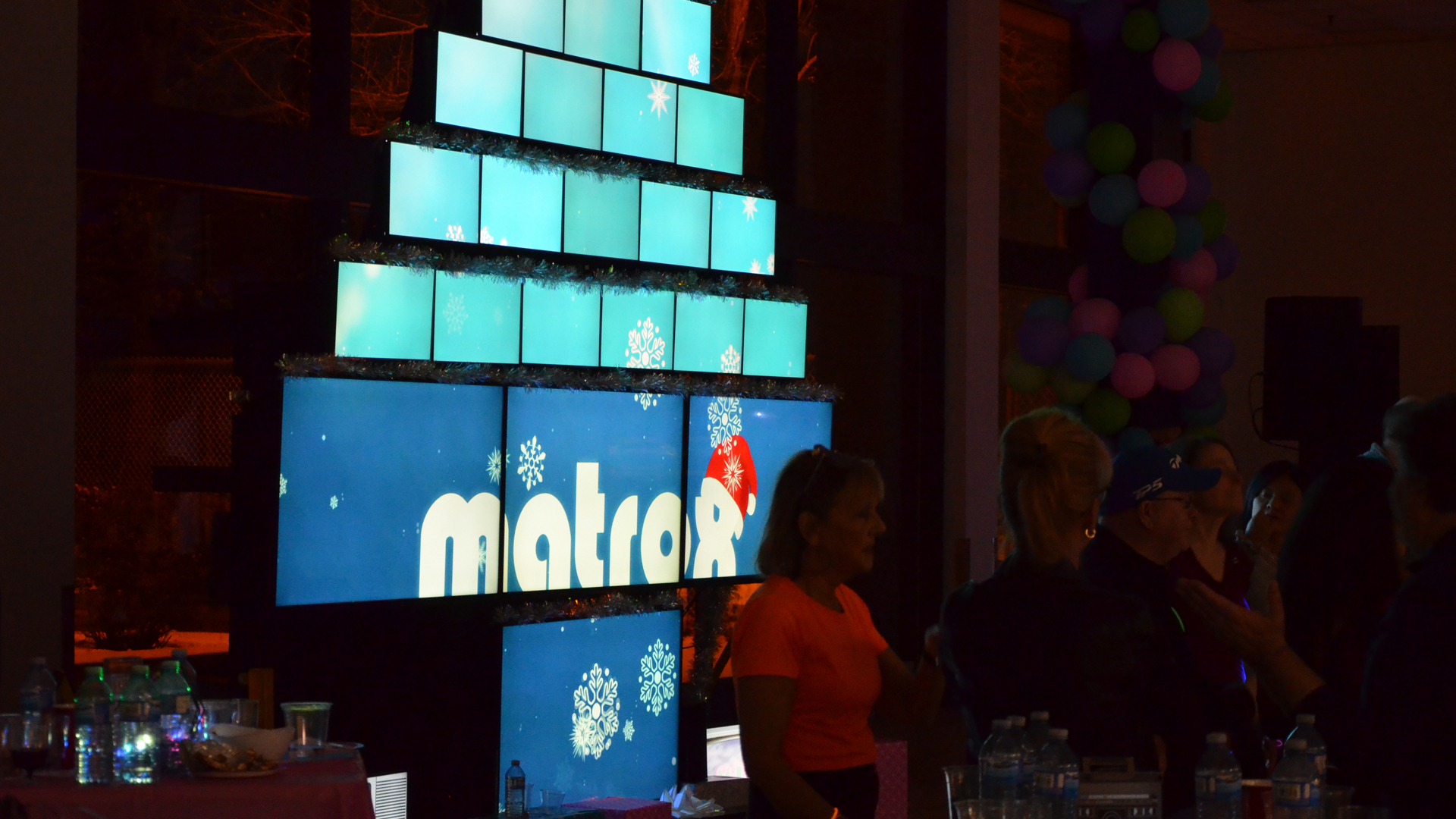 Matrox QuadHead2Go-powered video wall makes for a corporate event to remember.