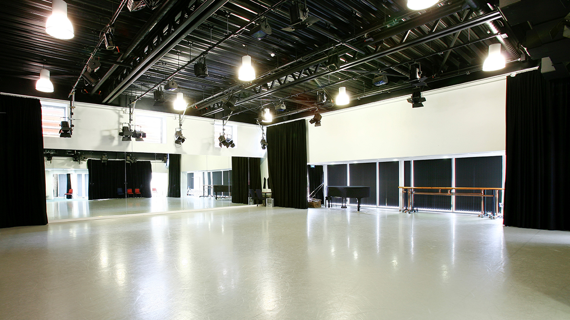 School's stage where events and performances are recorded using Matrox Monarch HDX.
