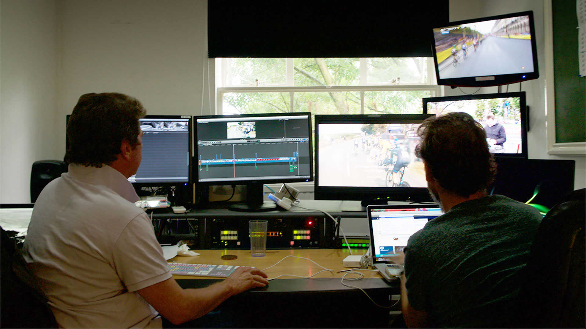 Recording Le Tour cycling moments using the Matrox Monarch HD streaming and recording appliance.