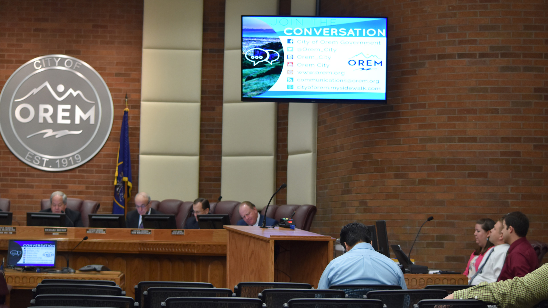 Residents attending the council meeting in person that is also made available to them live through webcasts by the city and VOD Using Monarch HD and PrimeGov software.