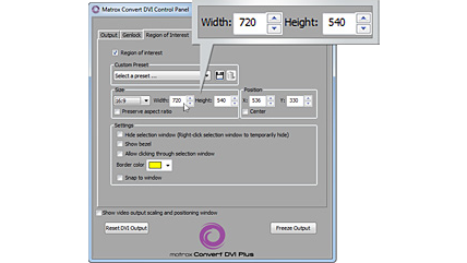Convert DVI software interface