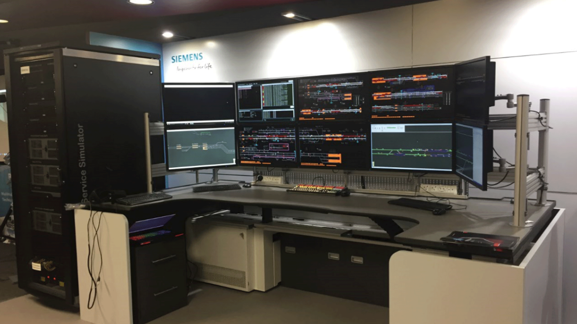 Siemens Rail Automation showcases an IP-based simulation system