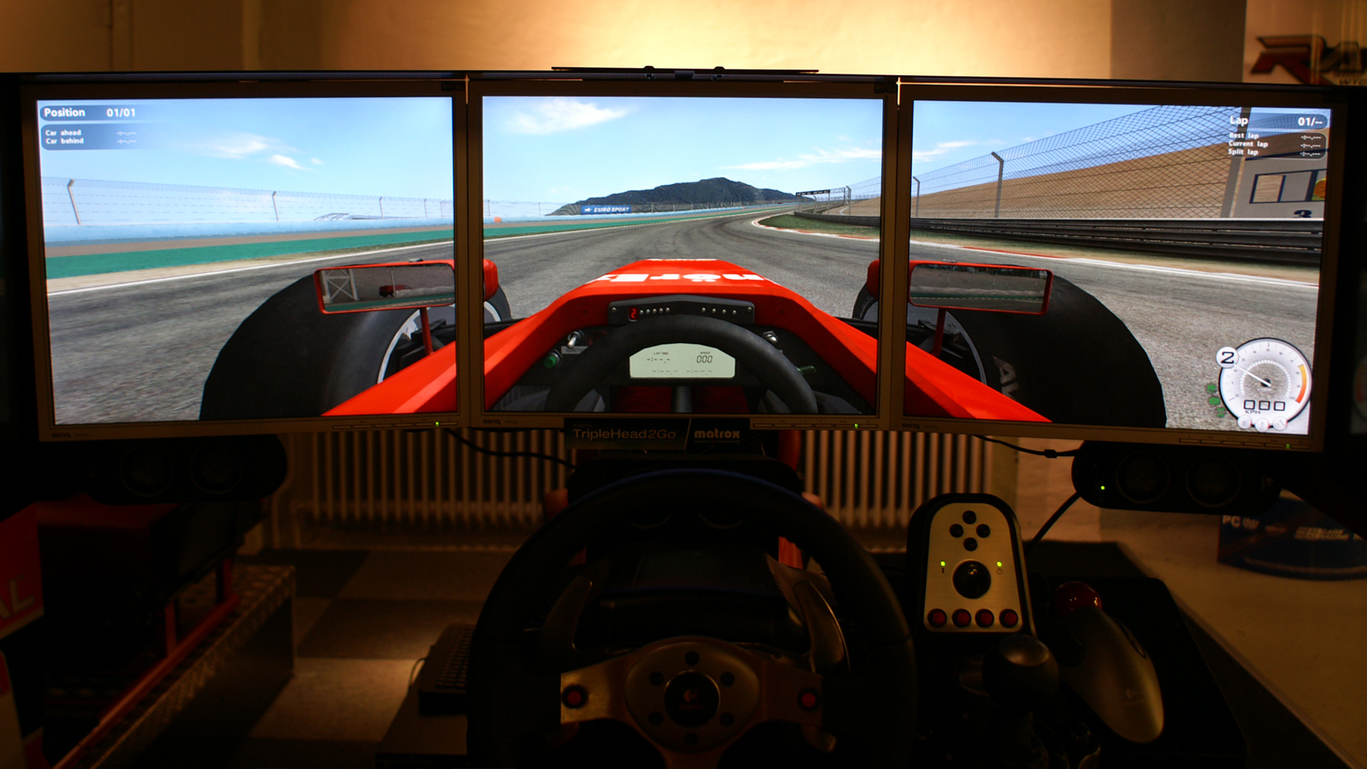 SimBin brings sensation of speed to RaceRoom with extra-wide screen resolution of Matrox TripleHead2Go.