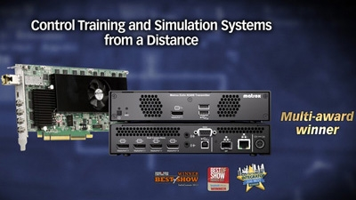 Matrox Extio 3 IP KVM Extenders for Simulation and Training Systems